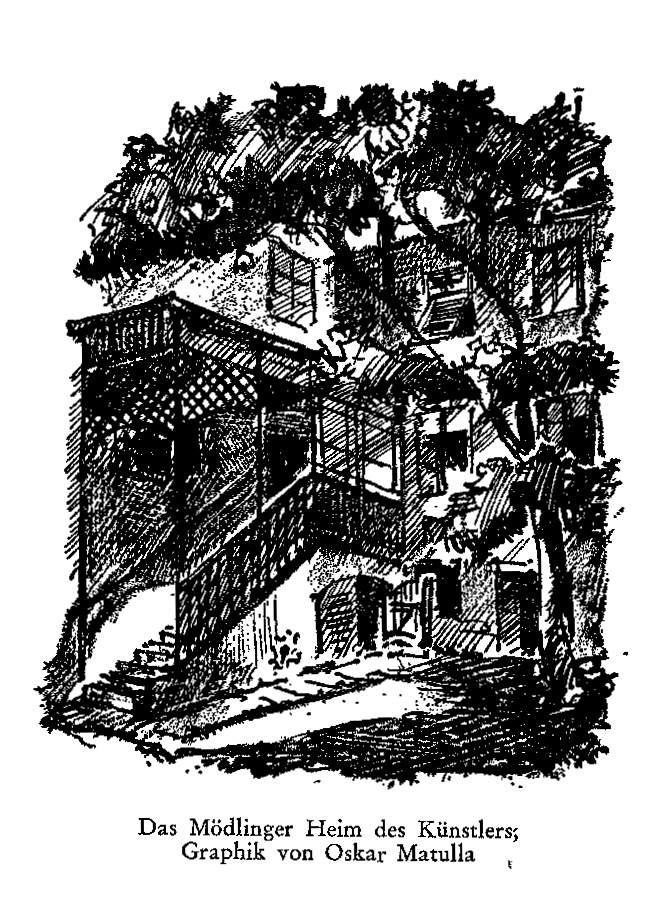 Grafik von Sprongls Haus in Mödling