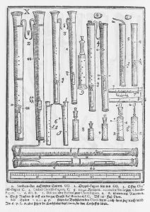Dulziane und Rankett, Syntagma musicum, Michael Praetorius, 1620.