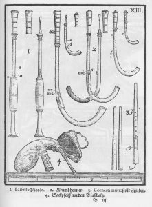 Krummhörner, Syntagma musicum, Michael Praetorius, 1620.