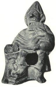 Terrakotta-Figur mit Panflöte und Dudelsack, Alexandria, 1. Jhdt. v.Chr.
