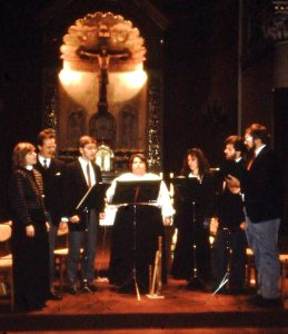 Das Medelike Consort Mitte der 1980er Jahre