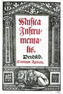 Titelblatt Agricola, Musica Instrumentalis deudsch