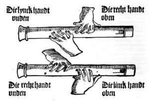 Spielanweisung für die Blockflöte