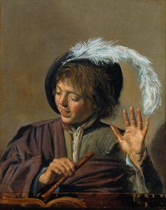 Frans Hals: Singender Knabe mit Blockflöte