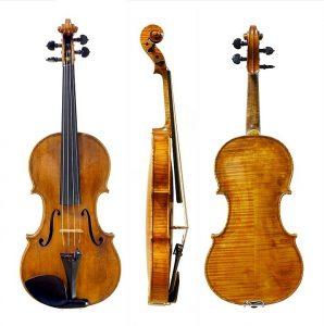 """Violine von Giuseppe Guarneri del Gesù (Baujahr 1743), Niccolò Paganinis Lieblingsgeige, von ihm """"Il cannone"""" genannt; Palazzo Doria Tursi, Genua, Italien."""