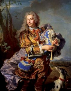 Hyacinthe Rigaud, Gaspard de Gueidan en joueur de musette, 1738.