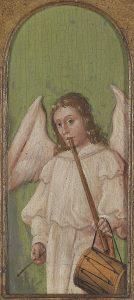 Engel mit Schwegel und Trommel, Niederdeutscher Meister, 15. Jahrhundert