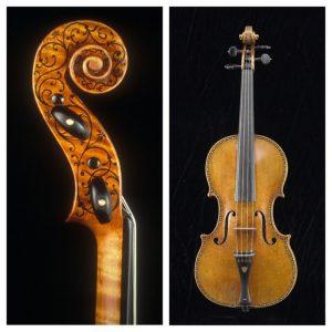 """Violine von Antonio Stradivari (Baujahr 1687), nach einem früheren Besitzer """"Ole Bull"""" genannt; Smithsonian Institution, Washington D.C., USA."""