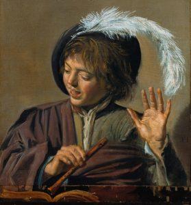 Frans Hals: Singender Knabe mit Flöte